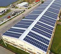 Накрышная солнечная электростанция СЭС для бизнеса