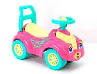 """Детская машина толокар """"Кошечка"""" цвет малиновый. Машинка каталка.Детская машина  каталка  толокар."""