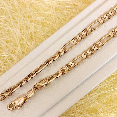 R11-0744 - Позолоченная цепочка плетение Картье, 44 см, 60 см