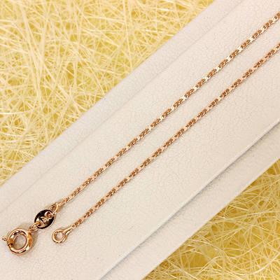 R11-0749 - Цепочка плетение Морская цепь Картье розовая позолота, 45.5 см