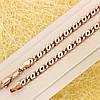 R11-0759 - Цепочка плетение Скрепка розовая позолота, 49.5 см