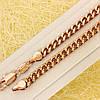 R11-0761 - Цепочка Панцирное плетение с насечками розовая позолота, 50.5 см