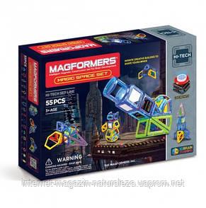 Конструктор магнитный Магформерс Магия космоса 55 элементов, фото 2