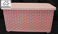 Корзинка для белья Irak Plastik 18 л К055 (персиковая)