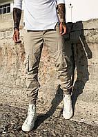 Джоггеры Blackzi  8053-7 мужские карго бежевые летние тонкие