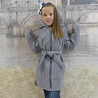 "Кашемировое пальто ""Александра"" серый, фото 1"