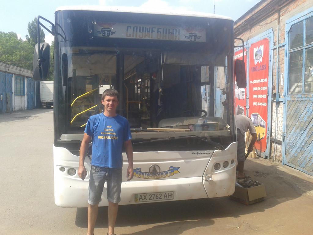 Замена лобового стекла на автобус  ЛАЗ А 183, (Сити ЛАЗ) в Днепропетровске