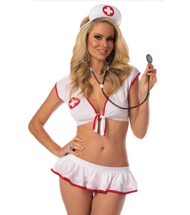 Костюм медсестры топ и юбка