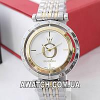Женские наручные часы Pandora 6861-1 серебро-золото, вращающийся циферблат