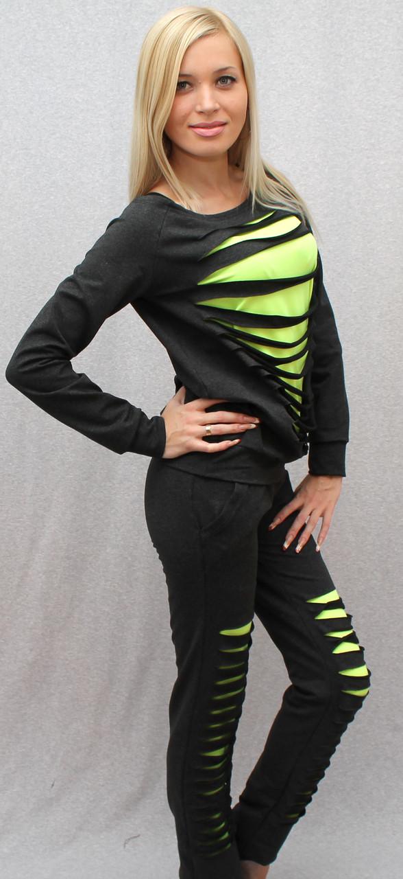 Спортивный костюм женский темно-серый