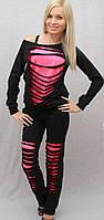 Спортивный костюм женский черный, фото 1