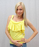Майка женская желтая