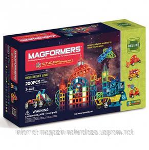 Магнитный конструктор  Magformers Мегатранспорт 200 элементов, фото 3