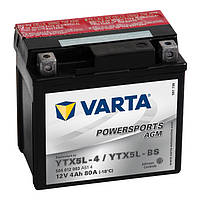 YTX5L-BS VARTA FUN Мото аккумулятор 4 А/ч, 80 А, (-/+), 114х71х106 мм