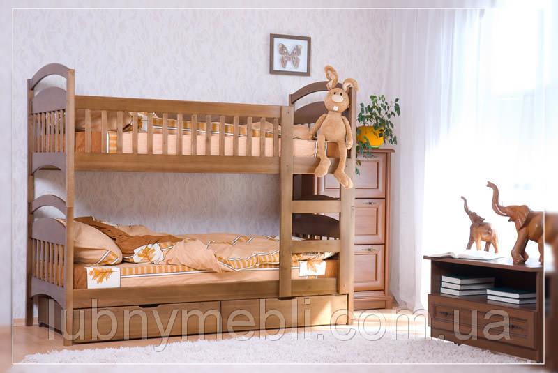 """Двухъярусная кровать для детей с лестницей """"Карина"""""""