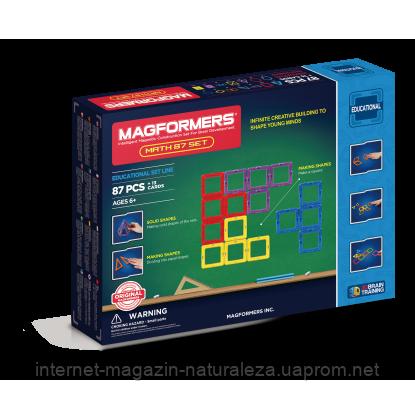 Магнитный конструктор Magformers Увлекательная математика 87 элементов