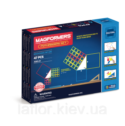 Магнитный конструктор Магформерс Пифагор 47 элементов