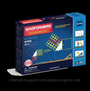 Магнитный конструктор Магформерс Пифагор 47 элементов, фото 2