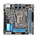 "Материнская плата ASRock X99E-ITX/ac s.2011-3 DDR4 Intel X99 ""Over-Stock"" Б/У, фото 2"