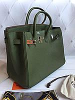 Женская сумка Гермес Биркин  35 см оливка