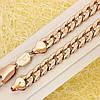 014-0757 - Цепочка Панцирное плетение рисунок точечка розовая позолота, 51.5 см