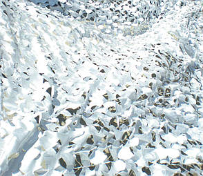Сетка маскировочная белая оксфорд, фото 2