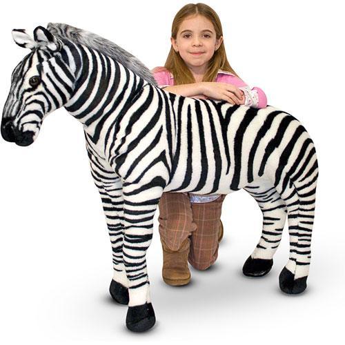 Гигантская плюшевая зебра Melissa&Doug 1 м (MD2184)