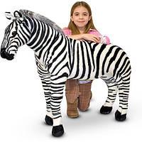 Гигантская плюшевая зебра Melissa&Doug 1 м (MD2184), фото 1
