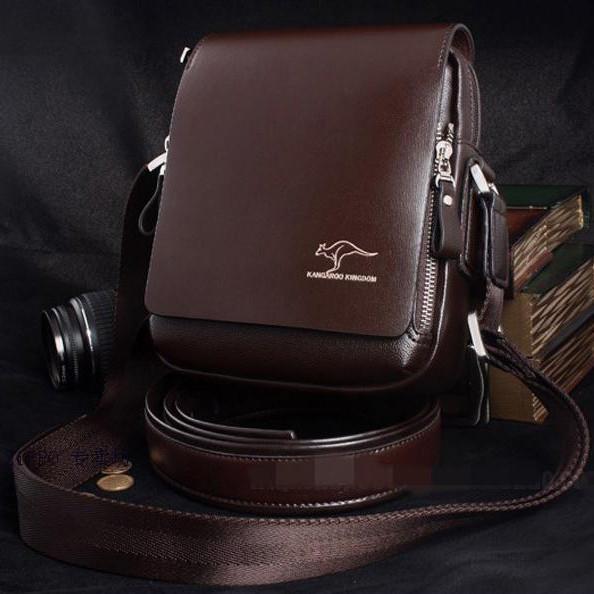 Мужская кожаная сумка. Модель 424