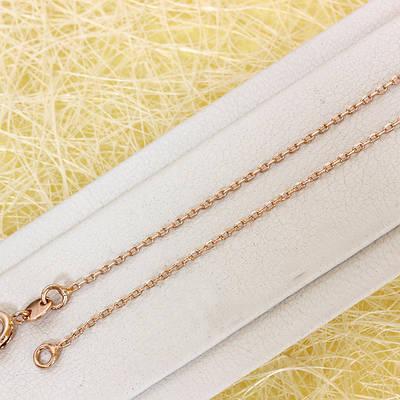 014-0766 - Цепочка Якорное плетение розовая позолота, 45 см