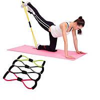 Эспандер восьмерка для фитнеса Easy Body (йога, пилатес)