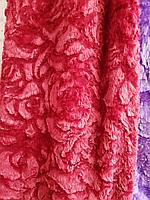 Покрывало плед 3D роза 220*240 .Вишневый.