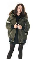 Женская зимняя куртка с натуральным мехом Vo Tarun