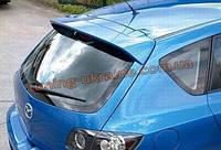 Спойлер из стеклопластика на Mazda 3 2009-2013 хэтчбек