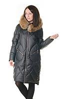 Женская зимняя куртка с натуральным мехом VoTarun