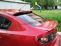 Спойлер-бленда на стекло из стеклопластика на Mazda 3 2003-2009 седан
