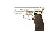 Пистолет стартовый (сигнальный) Ekol Aras compact (хром с позолотой)