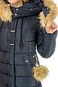 Зимнее женское пальто пуховик Майя размеры 48- 56 Мех Енот!, фото 7