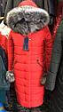 Зимнее женское пальто пуховик Майя размеры 48- 56 Мех Енот!, фото 3