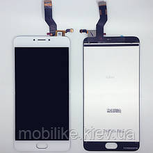 Дисплей з сенсорним екраном Meizu M3 Note (L681H)(шлейф в сторону) білий