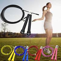 Скакалка скоростная CrossFit со стальным тросом для кроссфита, 3м, регулируемая
