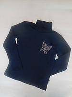 Синяя водолазка для девочек Benini от 116 до 134 см рост., фото 1