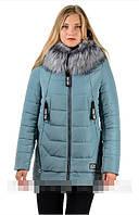 Зимняя женская куртка Вика Водоотталкивающая плащевка Canada Размеры 44, 52, 54