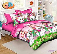 Подростковое и полуторное постельное бельё Детское Кошка