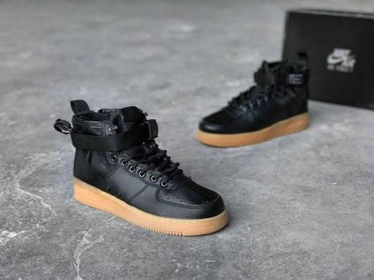 """065e1e50bc4e ... Кроссовки Nike Special Field Air Force 1 Mid """"BlackBlackGum Light Brown  wholesale dealer 48d85 13f3c ..."""