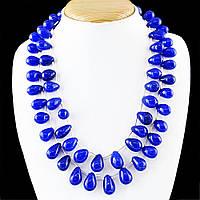 Великолепные бусы, ожерелье из натурального сапфира! Эксклюзив!!