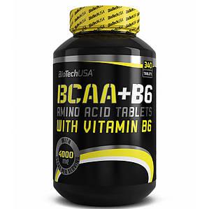 BioTech BCAA + B6 340 tab, Биотеч БЦА + Б6 340 таб