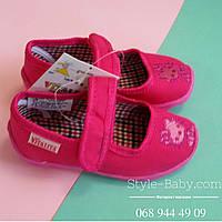 Детские тапочки подошва EVA в садик на девочку, текстильная обувь оптом Vitaliya Виталия размеры 19 по 22,5