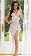 Длинное эротическое платье белое