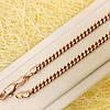 014-0782 - Цепочка Панцирное плетение розовая позолота, 60 см